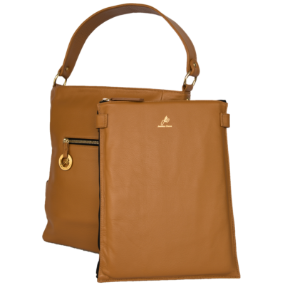 British Tan Diamanti with Laptop Slip