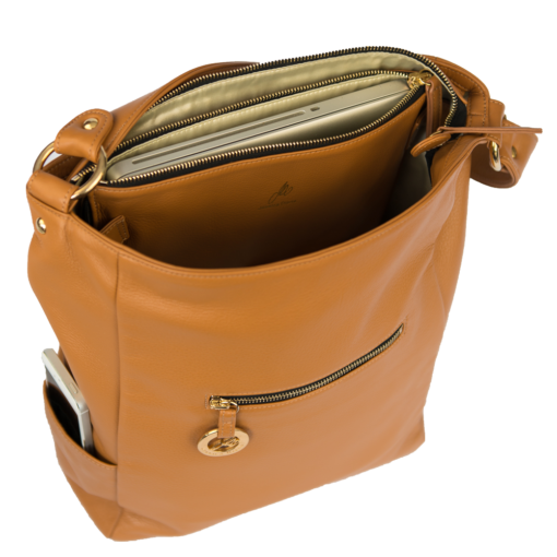 British Tan Diamanti with Laptop Slip Attached Inside