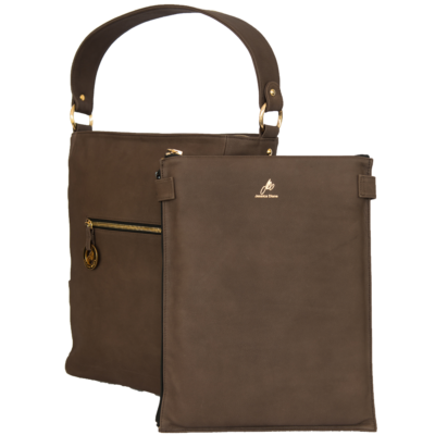 Chocolate Diamanti Tote with Laptop Slip