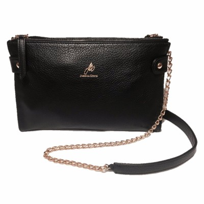 Black Cali Chain Crossbody Clutch