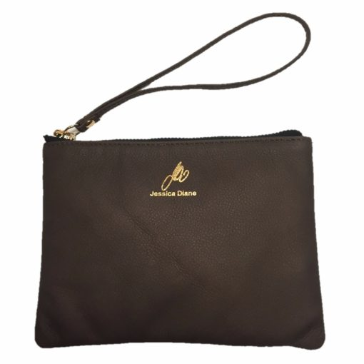Front View of Chocolate Wristlet
