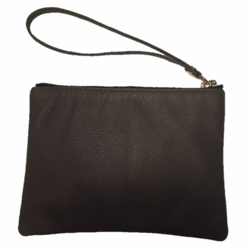 Back View of Chocolate Wristlet