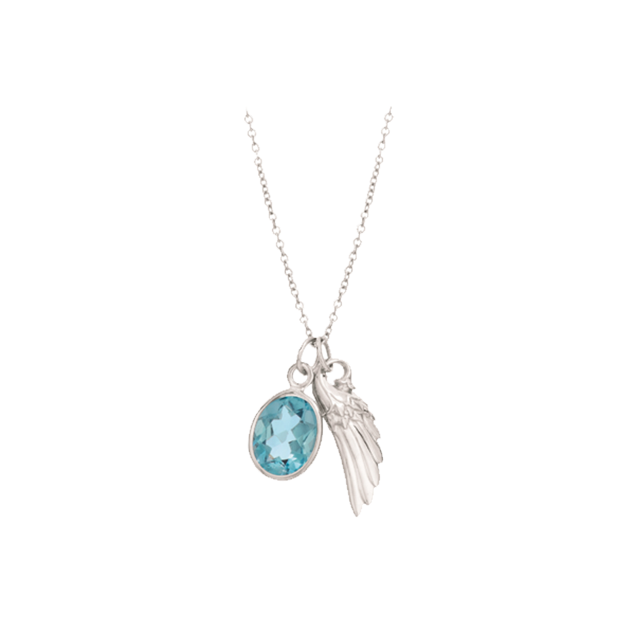 kary necklace shop london designs kjesbo blue topaz doubled